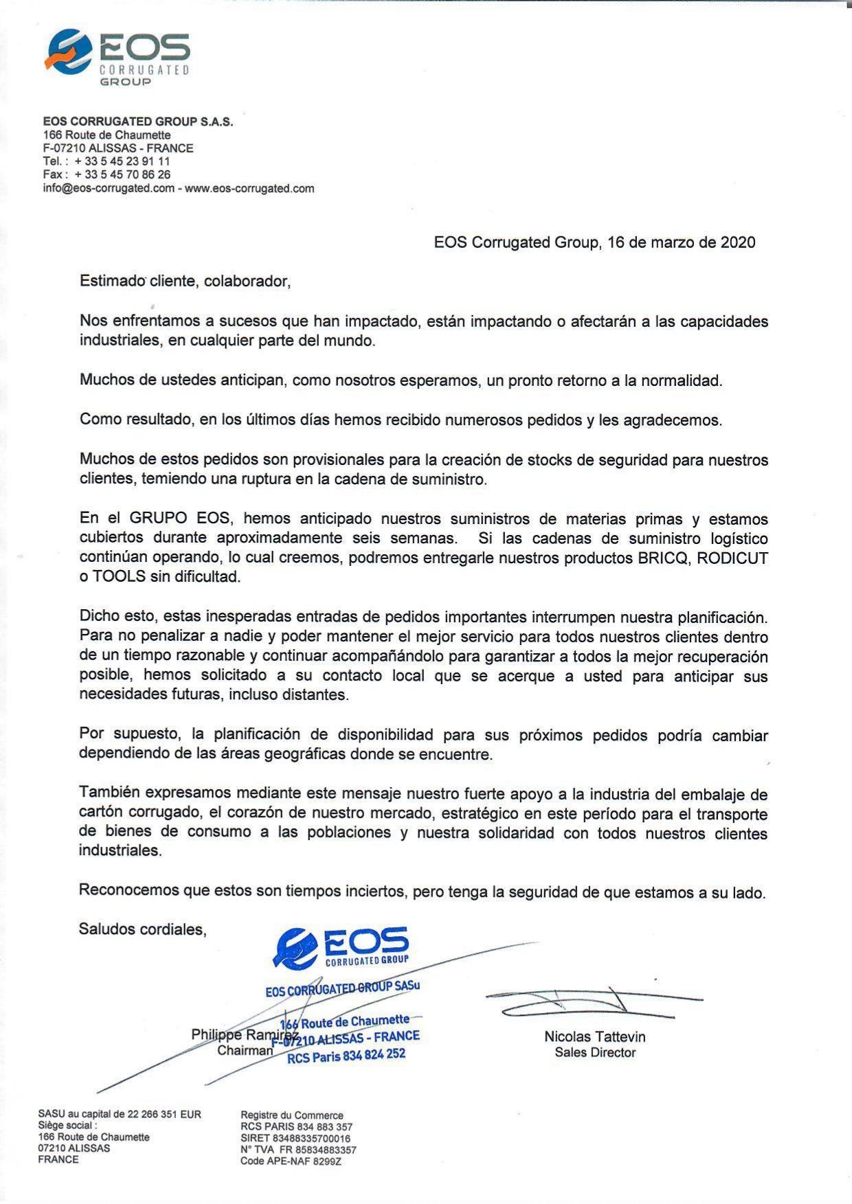 EOS Corrugated C19 SP